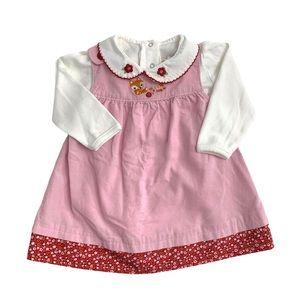 Gymboree Baby Girl Pink Soft Corduroy Dress 6-12 M